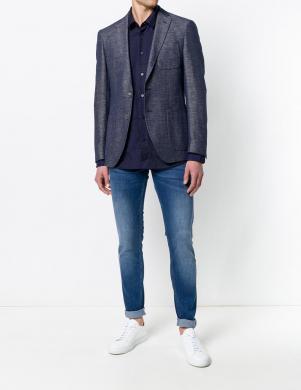 Zilas krāsas klasisks vīriešu krekls VERSACE JEANS