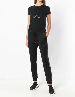 VERSACE JEANS melns sieviešu krekls