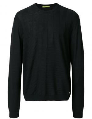 VERSACE JEANS stilīgs melnas krāsas vīriešu džemperis