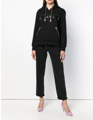 VERSACE JEANS melns sieviešu džemperis