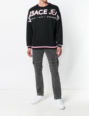 Melnas krāsas vīriešus džemperis VERSACE JEANS