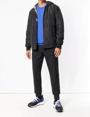 VERSACE JEANS melna/krāsaina vīriešu divpusīga jaka