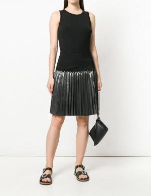Melnas krāsas kleita ar sudraba krāsu apakšmalā VERSACE JEANS