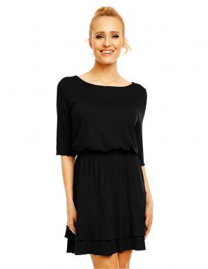 LENTAL melnas krāsas stilīga sieviešu kleita