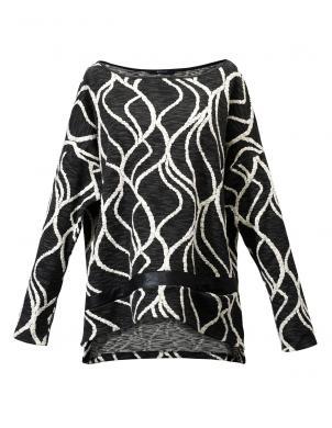 9FASHION tumši pelēkas krāsas sieviešu brīva stila džemperis Punta