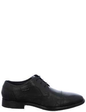 BUGATTI vīriešu melni ādas klasiski apavi Levio