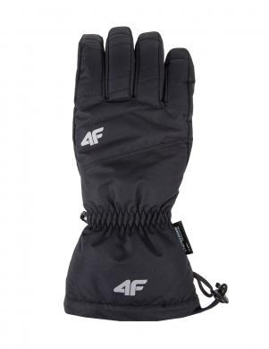 4F melnas krāsas vīriešu slēpošanas cimdi