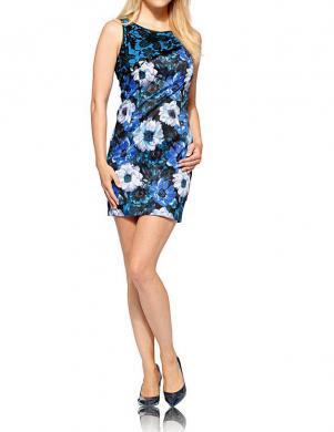 LINEA TESINI puķaina sieviešu zilas krāsas kleita