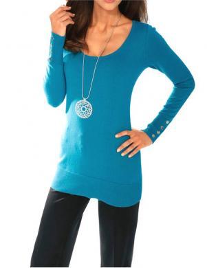 ASHLEY BROOKE zilas krāsas skaists sieviešu džemperis