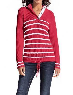 HEINE - BEST CONNECTIONS sarkanas / baltas krāsas stilīgas sieviešu kokvilnas džemperis