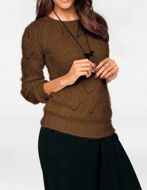 PATRIZIA DINI brūnas krāsas skaists sieviešu džemperis