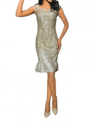 S. MADAN eleganta sieviešu zelta krāsas kleita