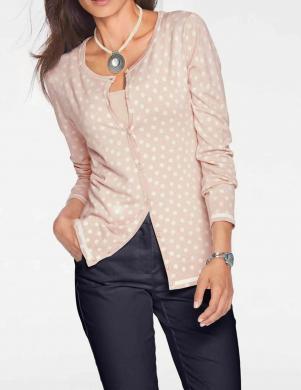 Rozā skaists ar pogu aizdari džemperis HEINE