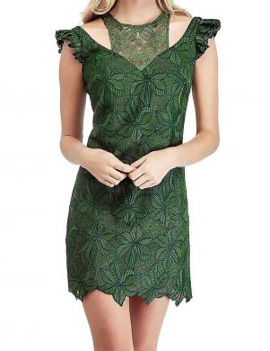 GUESS zaļa mežģīņu kleita