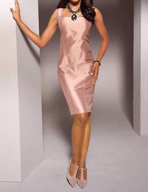 S. MADAN eleganta sieviešu rozā krāsas kleita