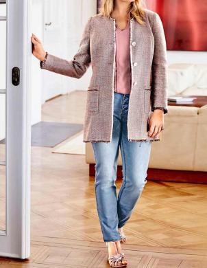 GUIDO MARIA KRETSCHMER gara rozā krāsas sieviešu jaka
