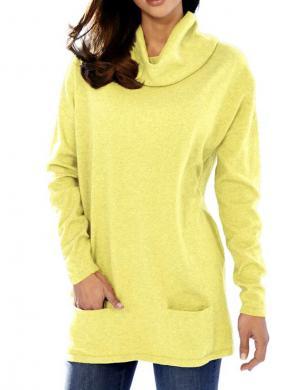 ASHLEY BROOKE stilīgs dzeltenas krāsas sieviešu džemperis