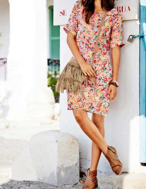 RICK CARDONA krāsaina eleganta sieviešu kleita