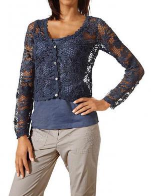 LINEA TESINI tumši zilas krāsas mežģīņu sieviešu jaka