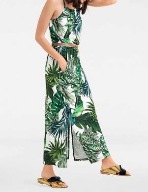 Balta/zaļa gara kleita RICK CARDONA