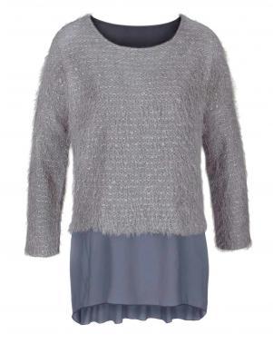 VIVANCE COLLECTION sieviešu pelēkas krāsas džemperis