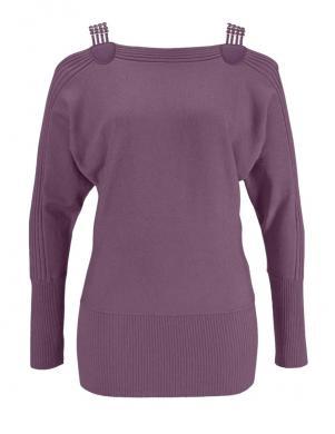 MELROSE violetas krāsas skaists sieviešu džemperis