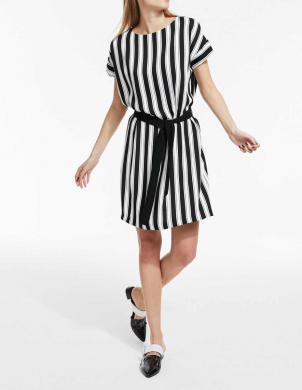 Melna/balta svītraina kleita HEINE