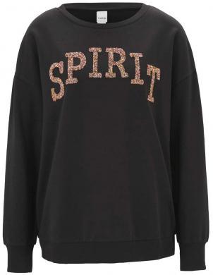 Melnis džemperis ar uzrakstu HEINE