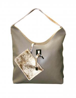 Smilšu krāsas ādas soma HEINE