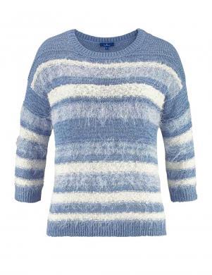 TOM TAILOR zilas/baltas krāsas stilīgs sieviešu trikotāžas džemperis