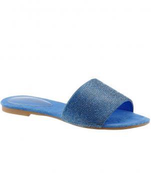 Zilas sieviešu ādas čības JEFFREY CAMPBELL