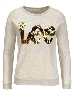 Džempers ar spīdīgu uzrakstu LEE