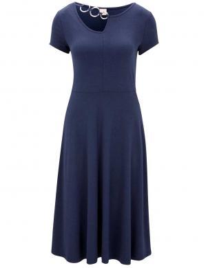 Tumši zila trikotāžas kleita HEINE