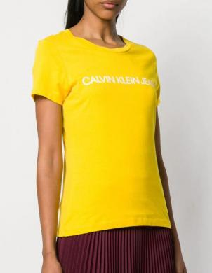 CALVIN KLEIN JEANS dzeltens sieviešu krekls