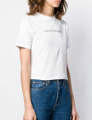 CALVIN KLEIN JEANS balts īss sieviešu krekls