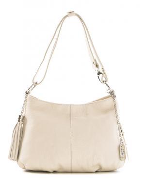 ANNA MORELLINI smilšu krāsas ādas sieviešu soma