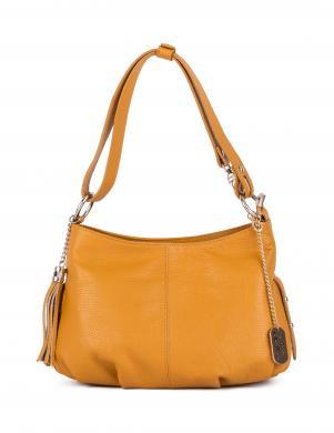 ANNA MORELLINI tumši dzeltena ādas sieviešu soma