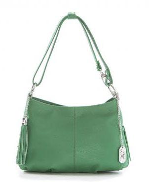 ANNA MORELLINI zaļa ādas sieviešu soma