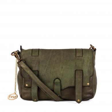MIA TOMAZZI zaļa ādas sieviešu soma