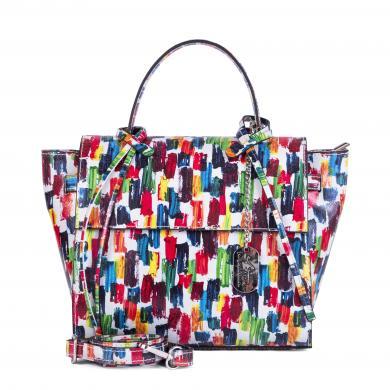 ANNA MORELLINI krāsaina ādas sieviešu soma