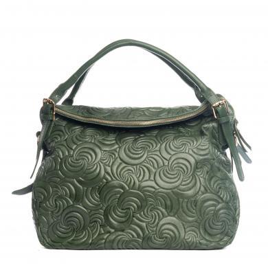 LUCCA BALDI zaļa ādas sieviešu soma