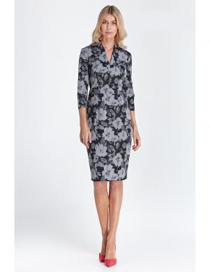 COLETT puķaina eleganta sieviešu kleita