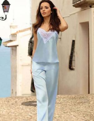 DKAREN pidžama MELANIE gaiši zila