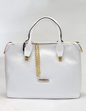 PIERRE CARDIN balta ādas sieviešu soma