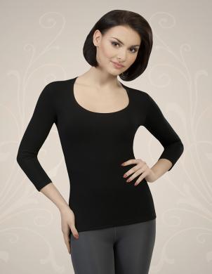 GORTEKS  melns sieviešu krekls Chloe