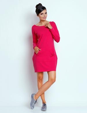 FOGGY spilgti rozā krāsas kokvilnas brīva kleita