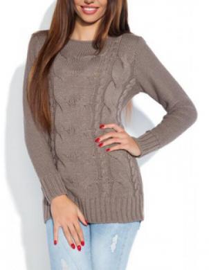 FOBYA brūns sieviešu džemperis