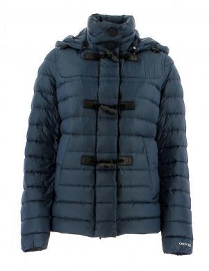 GEOX tumši zilas krāsas dūnu sieviešu jaka  ar kapuci