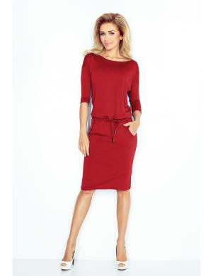 NUMOCO sarkanas krāsas skaista sieviešu kleita