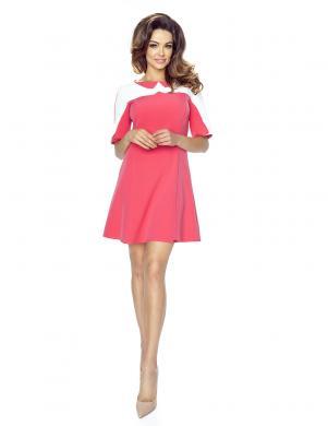 BERGAMO sieviešu koraļļu krāsas kleita